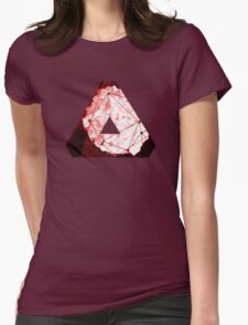 Abstract Geometry: Blood Ruby (Dark Red) Womens Fitted T-Shirt