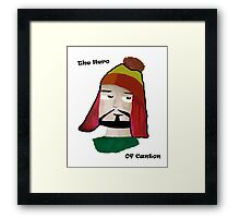 The Hero of Canton Framed Print
