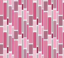 Girly pink modern retro abstract pattern by Maria Fernandes