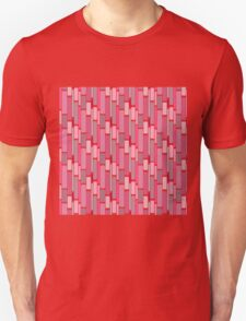 Girly pink modern retro abstract pattern Unisex T-Shirt