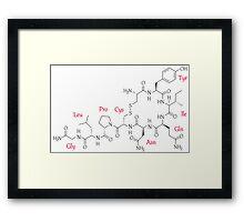 Oxytocin Molecule Framed Print