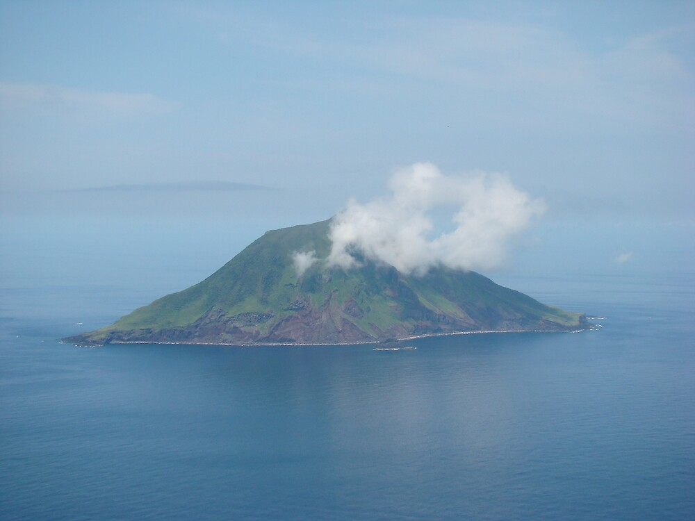 Volcanic Island near Hachijojima, Izu Islands, Near Tokyo, Japan by wilderpisces