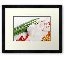 Roasted turkey Framed Print