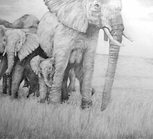family by africanart