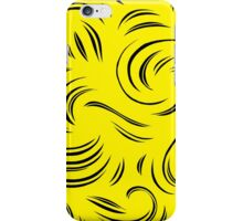 Rappaport Abstract Expression Yellow Black iPhone Case/Skin
