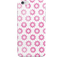 Girly pink watercolor abstract floral pattern iPhone Case/Skin