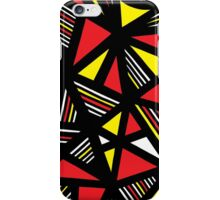 Baccouche Abstract Expression Yellow Red Black iPhone Case/Skin