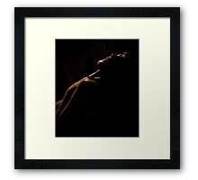 Kicks Joy Darkness Framed Print