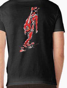 Donkey Dinner Kickflipster Mens V-Neck T-Shirt