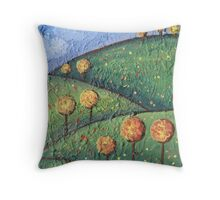 Happy hills Throw Pillow