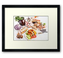 various meal type  Framed Print