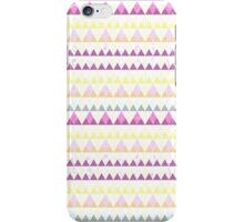 Girly pink yellow watercolor triangles pattern iPhone Case/Skin