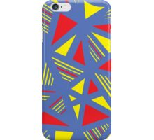 Bondurant Abstract Expression Yellow Red Blue iPhone Case/Skin