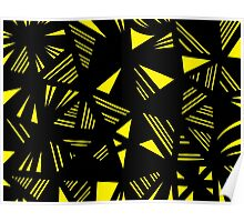 Gotimer Abstract Expression Yellow Black Poster
