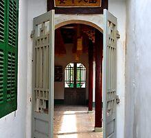 Through the Temple Doors - Hoi An, Vietnam. by Tiffany Lenoir