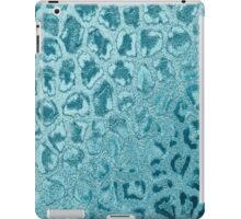 Vintage turquoise abstract animal print pattern iPad Case/Skin