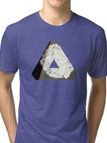 Abstract Geometry: Embers (Brown/Gold) Tri-blend T-Shirt