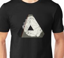 Abstract Geometry: Embers (Brown/Gold) Unisex T-Shirt