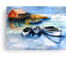 Peggy's Cove Frozen In, Chance of Snow  Canvas Print
