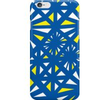 Fellenz Abstract Expression Yellow Blue iPhone Case/Skin