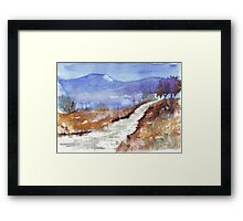 See how the grass grows in silence Framed Print