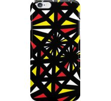 Etter Abstract Expression Yellow Red Black iPhone Case/Skin