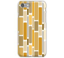 Retro modern yellow orange abstract pattern iPhone Case/Skin