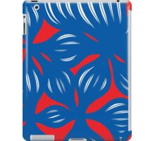 Balagtas Abstract Expression Red Blue iPad Case/Skin