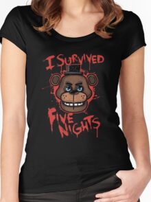 I Survived Five Nights At Freddy's Pizzeria Women's Fitted Scoop T-Shirt