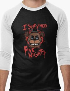I Survived Five Nights At Freddy's Pizzeria Men's Baseball ¾ T-Shirt