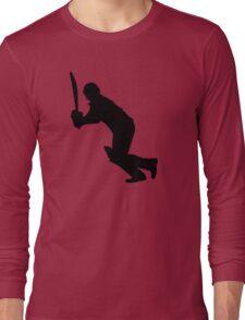 Cricket Sport Bat Ball Long Sleeve T-Shirt