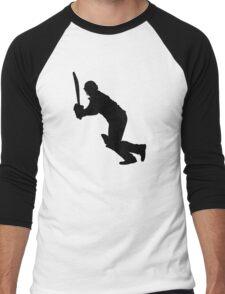 Cricket Sport Bat Ball Men's Baseball ¾ T-Shirt