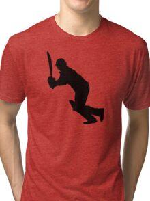 Cricket Sport Bat Ball Tri-blend T-Shirt