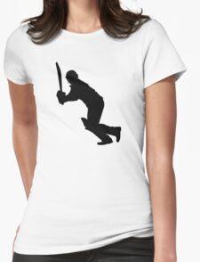 Cricket Sport Bat Ball Womens Fitted T-Shirt