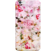 Vintage pink pastel watercolor floral pattern iPhone Case/Skin