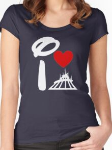 I Heart Space Mountain (Inverted) Women's Fitted Scoop T-Shirt