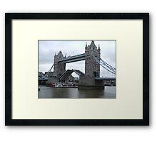 Tower Bridge Opening Framed Print