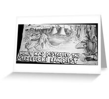 save the forest Greeting Card