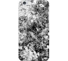 Black and white vintage marble pattern iPhone Case/Skin