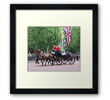 Prince William and camilla Parker Bowles Framed Print