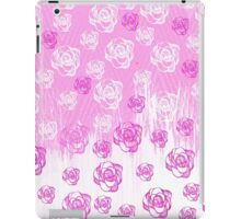 Girly pink watercolor hand made floral pattern iPad Case/Skin