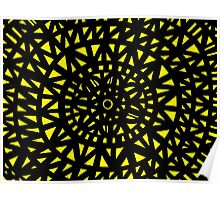 Mckinna Abstract Expression Yellow Black Poster