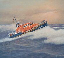 Royal National Lifeboat Instiution (RNLI) Tamar Class Lifeboat by William H. RaVell III