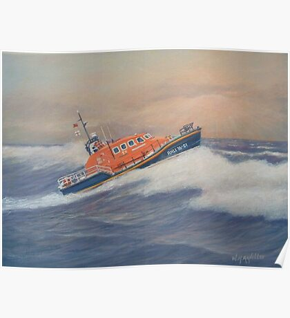 Royal National Lifeboat Instiution (RNLI) Tamar Class Lifeboat Poster