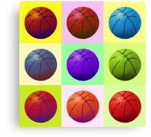 Pop Art Basketball Canvas Print