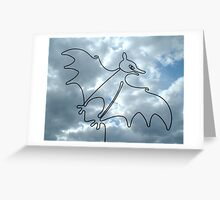 Flying Fox or Fruit Bat Greeting Card