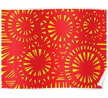 Seidel Abstract Expression Yellow Red Poster