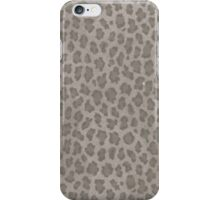 Hipster girly brown gray leopard animal print iPhone Case/Skin