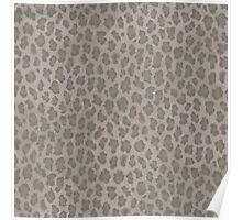 Hipster girly brown gray leopard animal print Poster