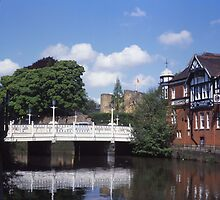 River Medway & Tonbridge Castle. by Brunoboy